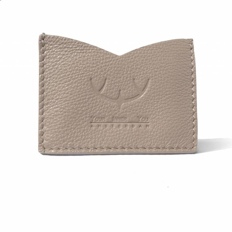 SPLASH | Leather Card Holder | Antler Taupe
