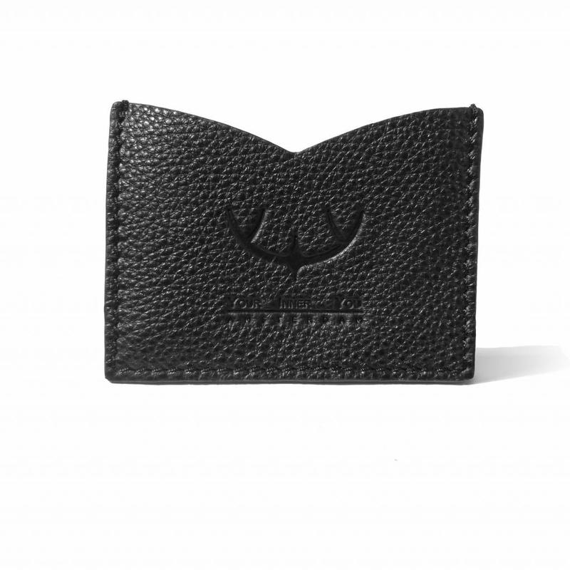 SPLASH | Leather Card Holder | Earth Black