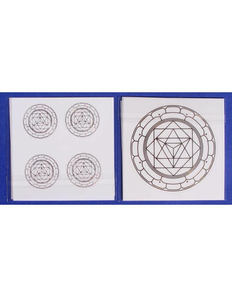 Stickers met verschillende  goudkleurige geometrische  afbeeldingen