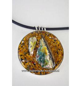 Orgonite sieraad sterling zilver 925 Amulet/Hanger met Abalone schelp, Mookaïet
