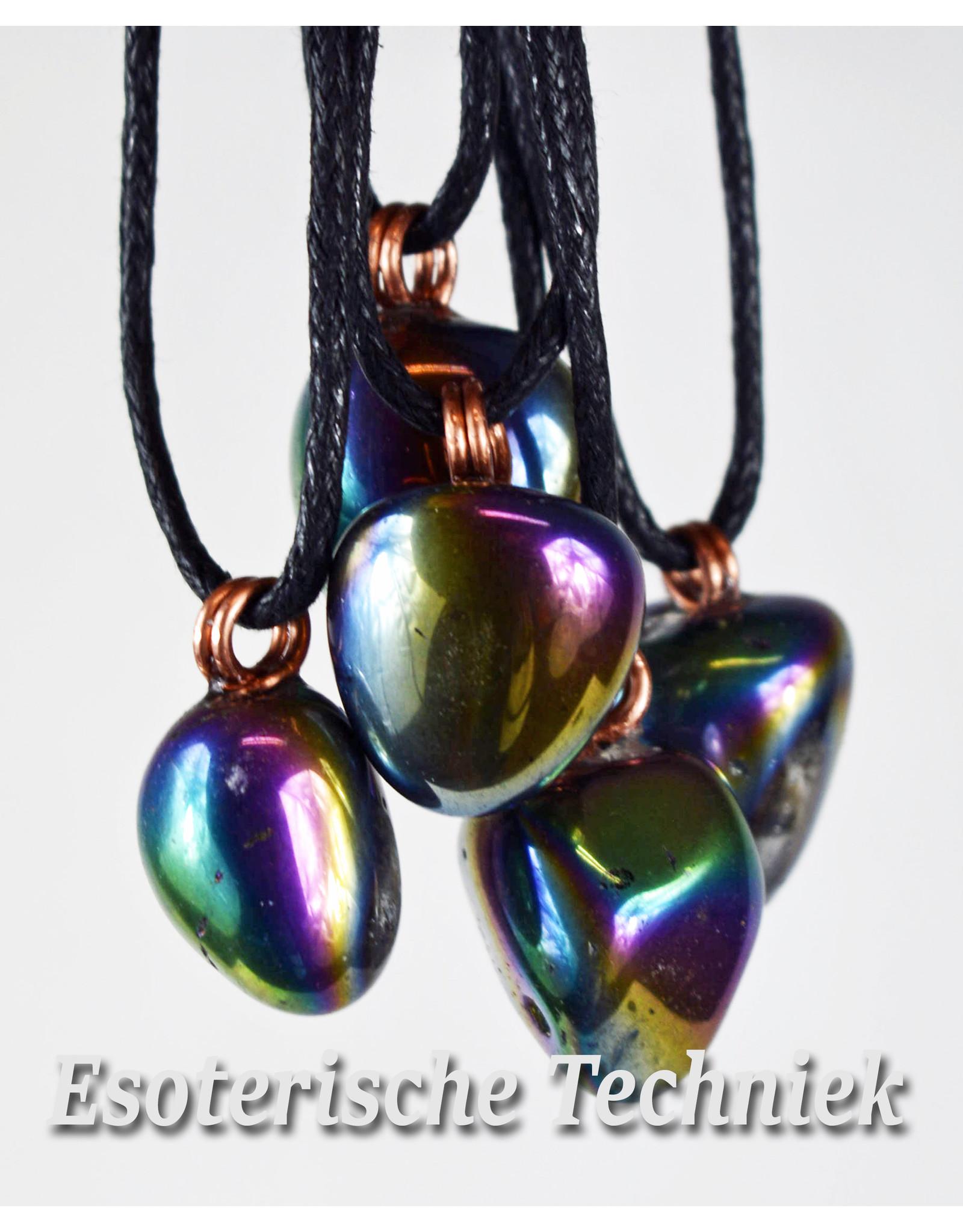 Orgone orgonite hanger Regenboog Aura bescherming tegen elektromagnetische straling.