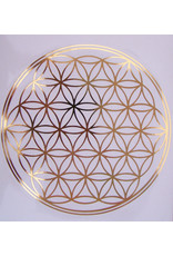 Sticker groot formaat van de  geometrie Flower of Life, diameter 20 cm. -15% Korting