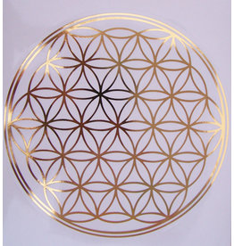Sticker doorsnede 20 cm  geometrie Levensbloem