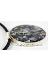 Orgonite Sieraad sterling zilver 925 Lybian desert Glass/Libisch Goudtektiet, Yttrium Fluoriet, Cryoliet, Moldaviet, Nuummiet, Herkimers, Silicium Verkocht