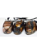 Orgonite edelsteen hanger Chiastholiet