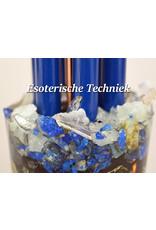 Orgone Chembuster met Lapis Lazuli, Aquamarijn, Seleniet en Shungite