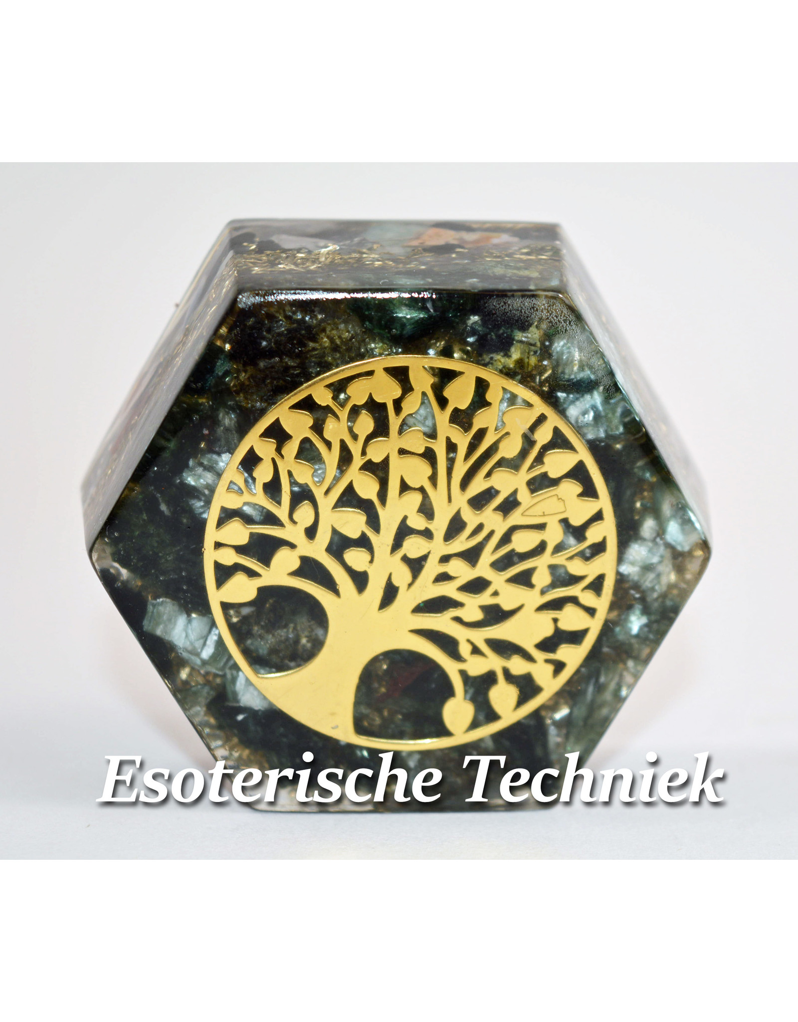 Orgonite Hexagon met de Tree of Life Serafiniet Verkocht
