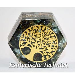 Orgonite Hexagon met de Tree of Life Serafiniet