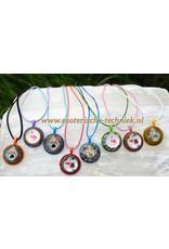 Orgonite  gekleurde hanger voor kinderen met diverse afbeeldingen