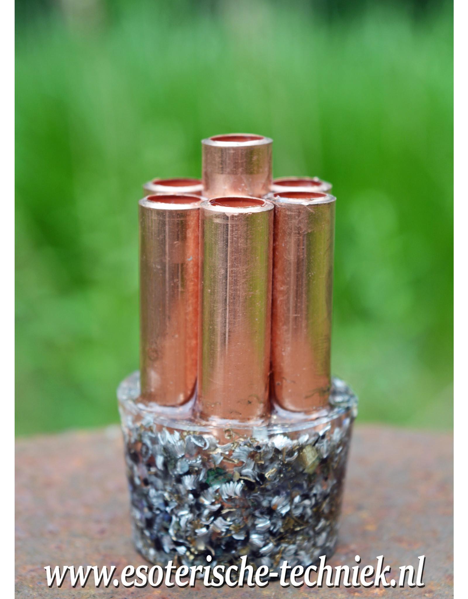 Chembuster shungite handformaat voor in de tas, auto en bij stralingsbronnen.