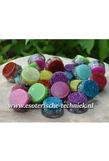 Orgonite rondje in verschillende  kleuren