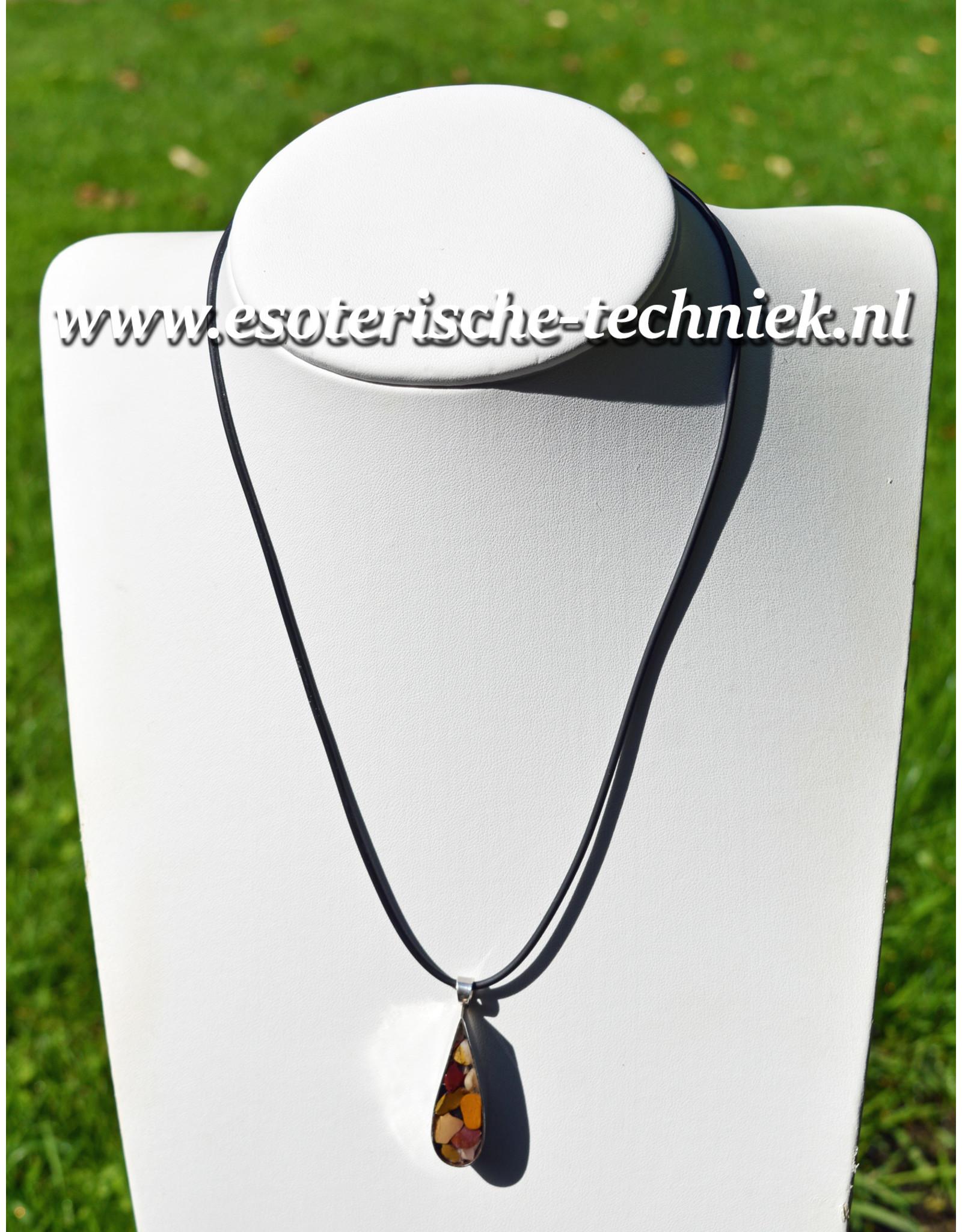 Orgone Orgonite hanger sterling zilver 925 met Mookaiet, Shungite, Herkimer Diamant