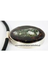Orgone Orgonite sieraad sterling zilver 925 Amulet/Hanger Preseli Bluestone / Stonehenge steen, Granaat