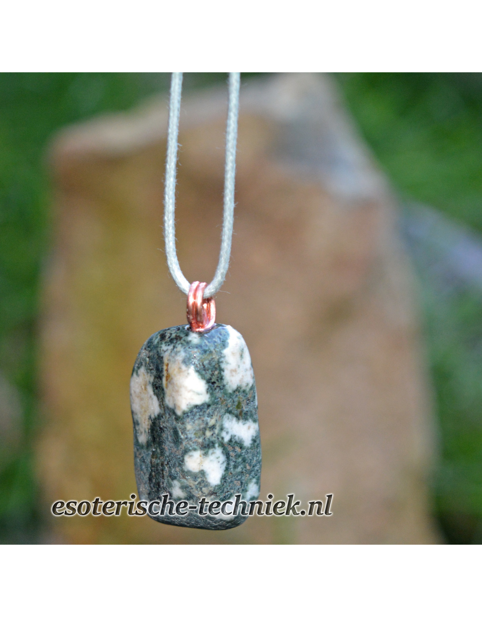 Orgone Orgonite hanger Preseli Bluestone / Stonehenge steen