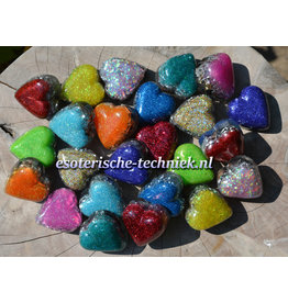 Orgonite hartje met Shungite en Herkimer Diamant