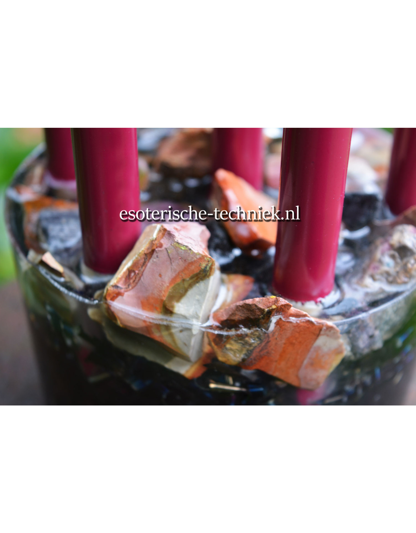 Orgone Chembuster met Shungite,  Toermalijn, Polychroom Jaspis en Bergkristal bol