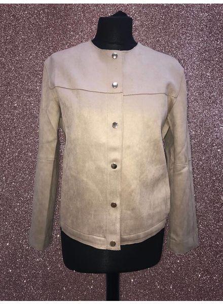 Voyelles Clara Suedette collarless jacket
