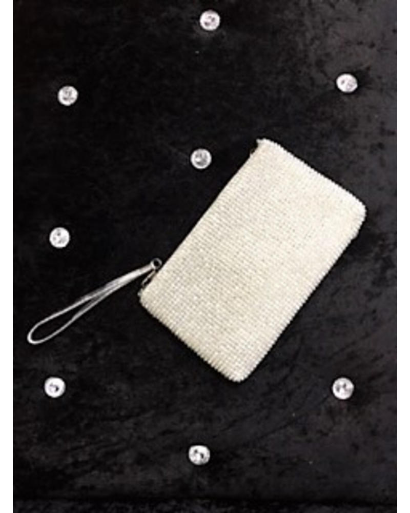 Diamante pouchette evening bag