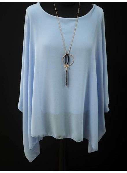 Bella batwing necklace top