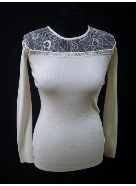Lacey Lace Diamanté Neck Jumper