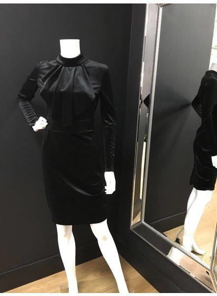 Flash Leah velvet like ruffle dress