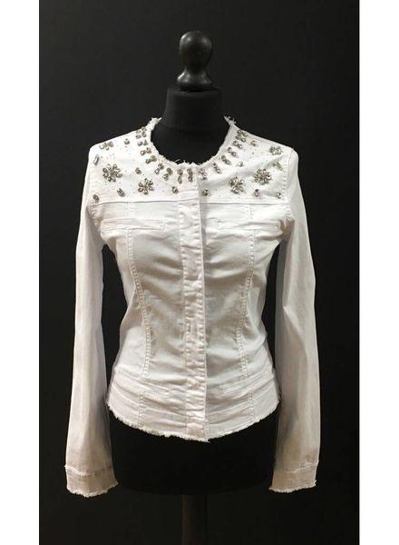 Lilly White Diamanté Jacket