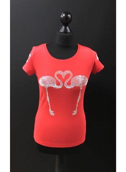 Flash Flamingo diamante embellished T-Shirt