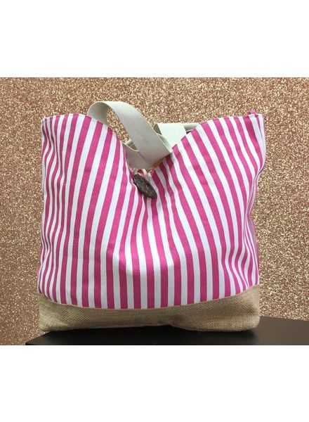 Flash Stripy slouch beach bag