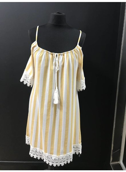 Sandy beach cold shoulder dress