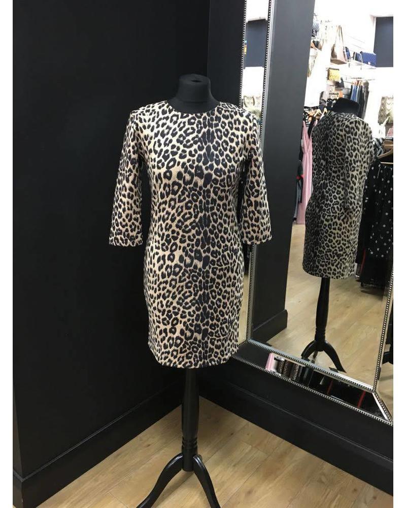 Vanessa faux suede zip back dress