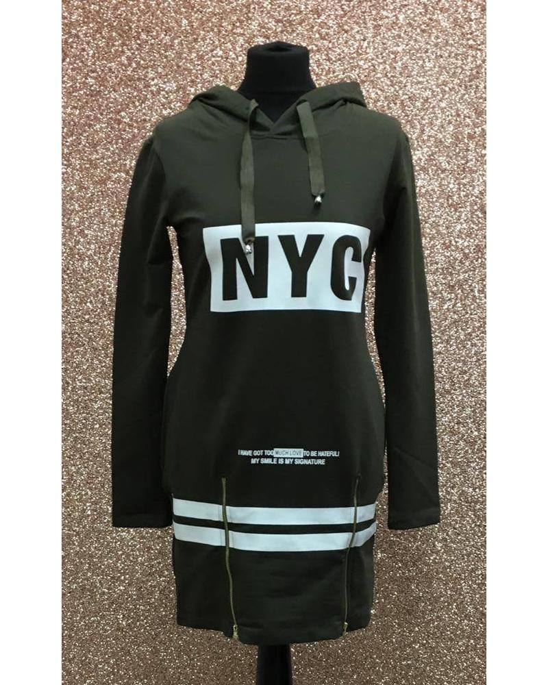 NYC logo sweatshirt dress