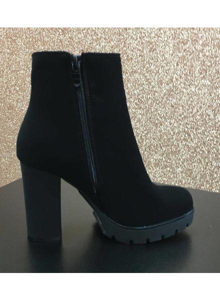 Double Zip platform ankle boots