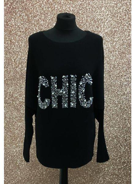 Chic embellished logo Jumper