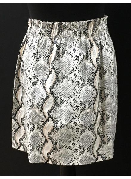 Snakeskin Leather Look Skirt