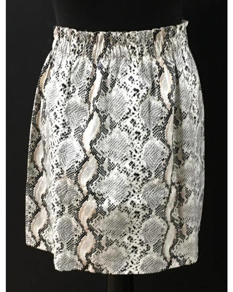 Snakeskin Leather Look Skirt