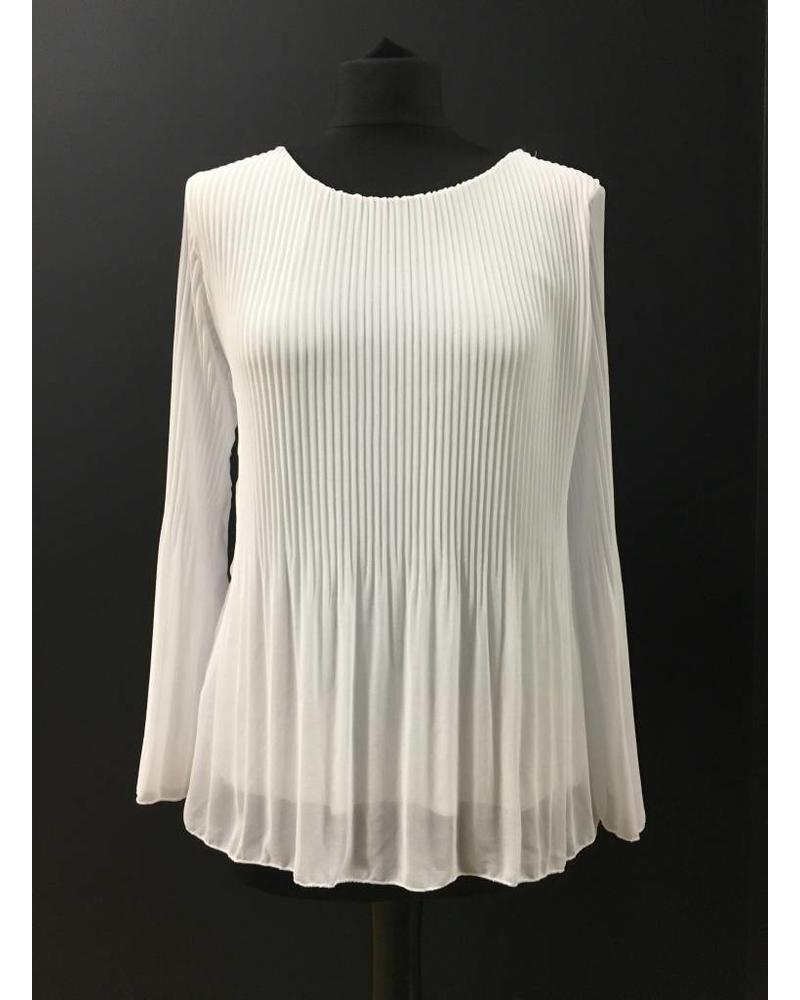 Charlene Chiffon pleated Bell Sleeve blouse