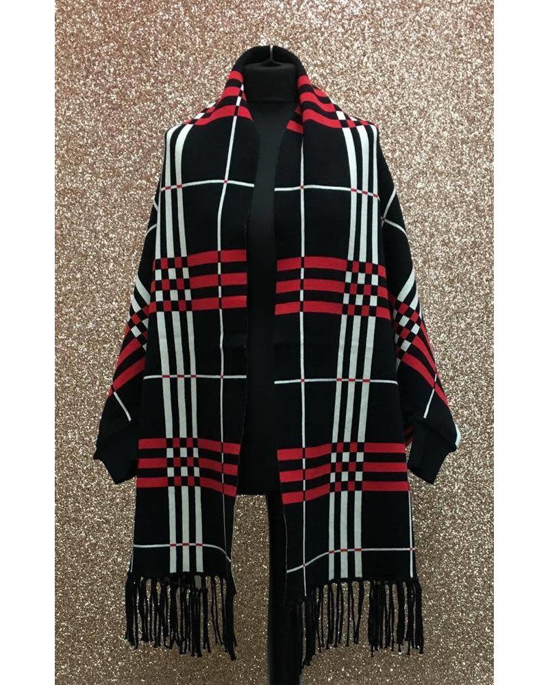 Panache sleeved shawl