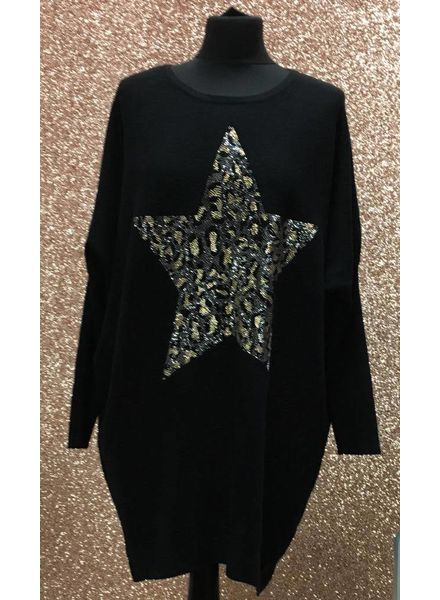 Galaxy leopard star jumper