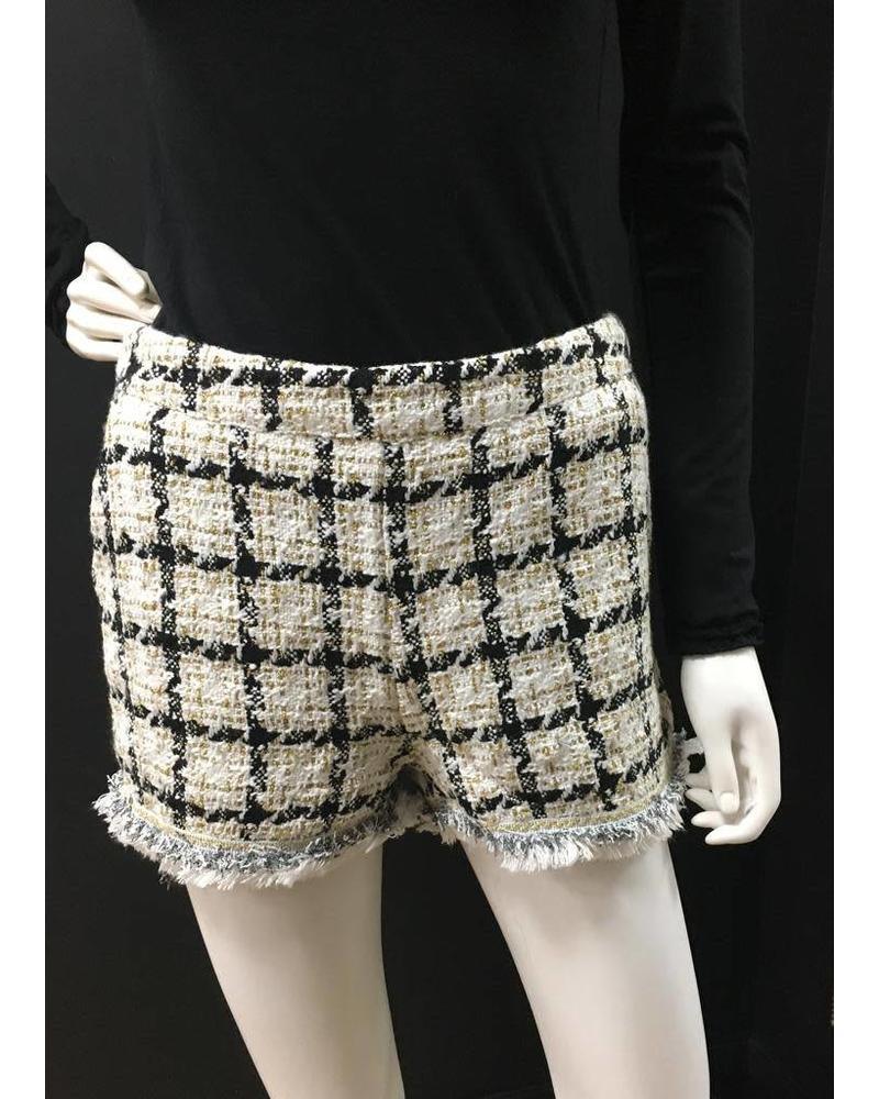Tweed style shorts