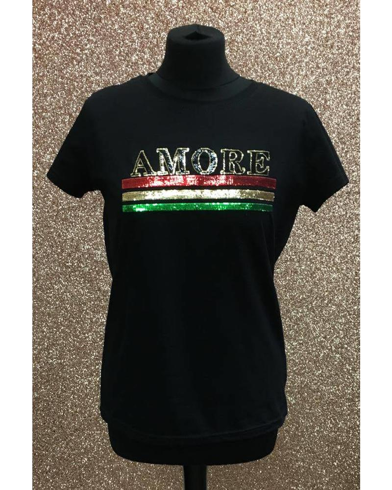 Sequin Amore T-Shirt