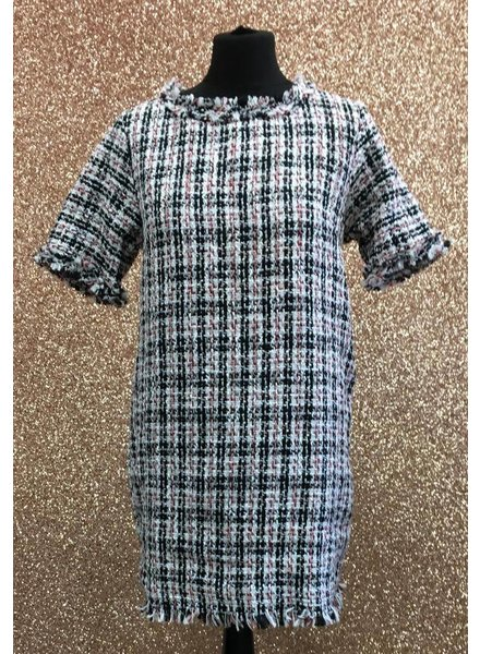 Tweed style shift dress