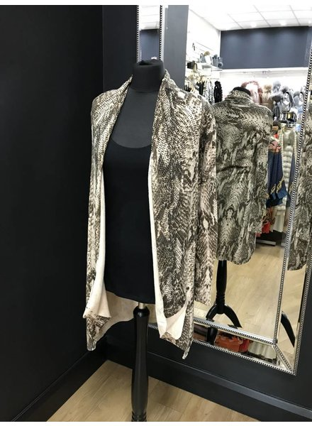 Robyn snakeskin black diamanté cardigan