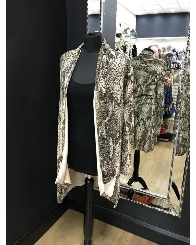 Robyn snakeskin black diamanté cardigan