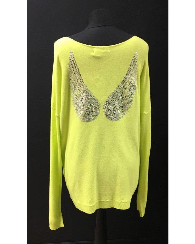 Ariana fine knit angel wing jumper