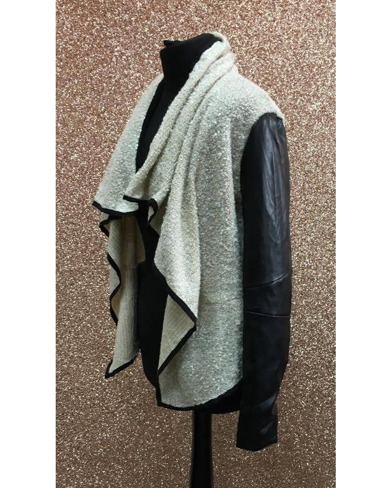 Boucle waterfall jacket