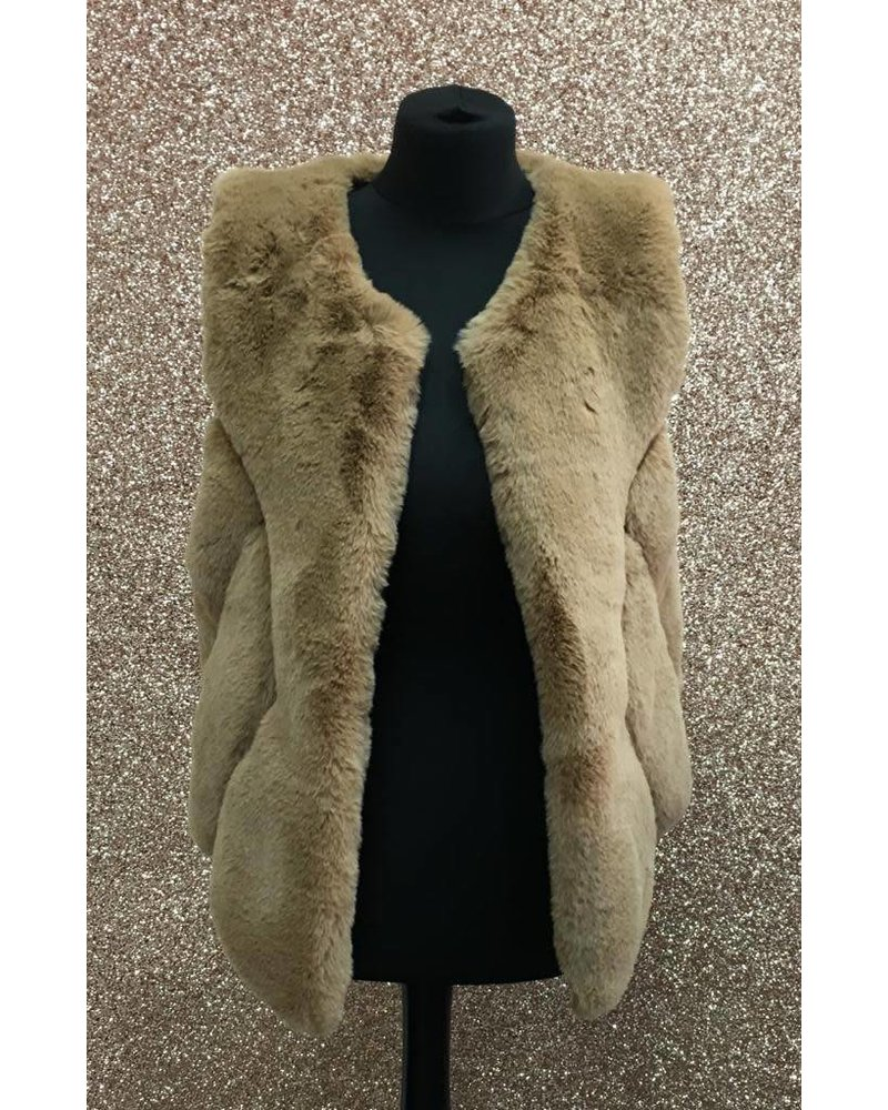 Gia Faux fur short gilet