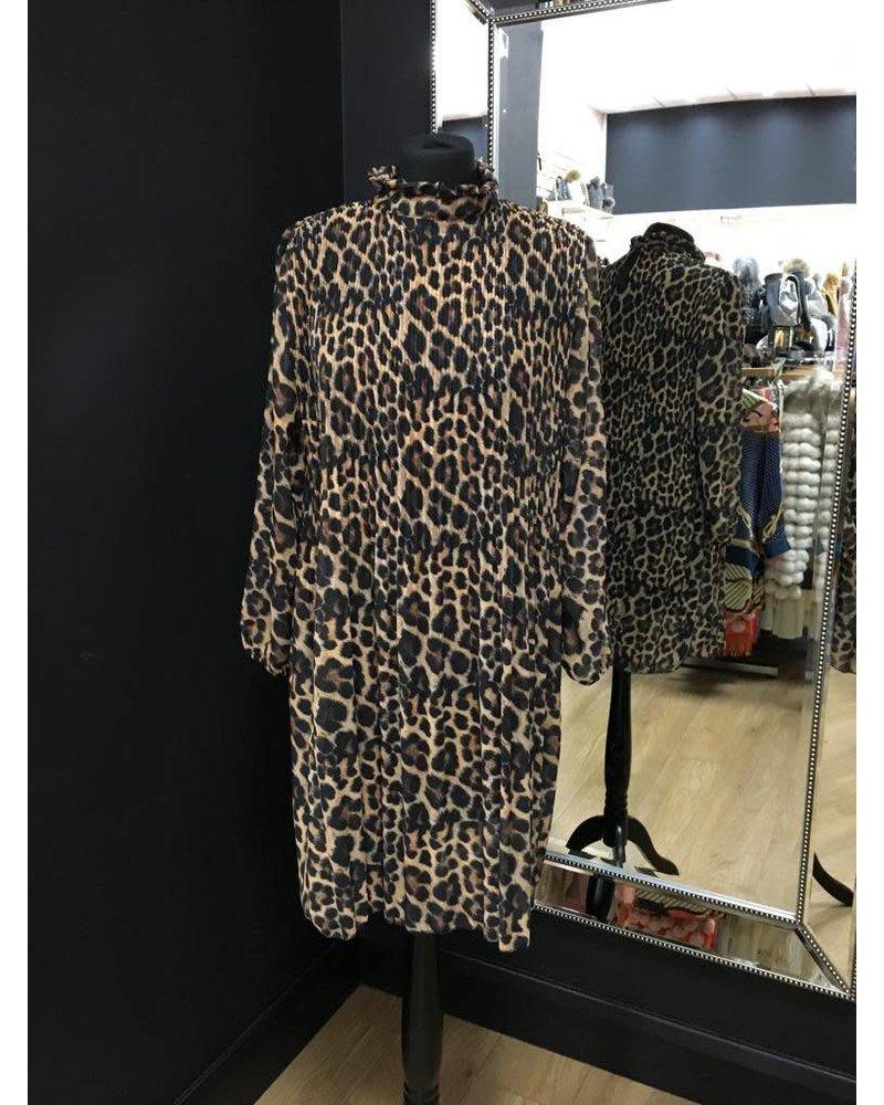 Rena ruffle pleated dress