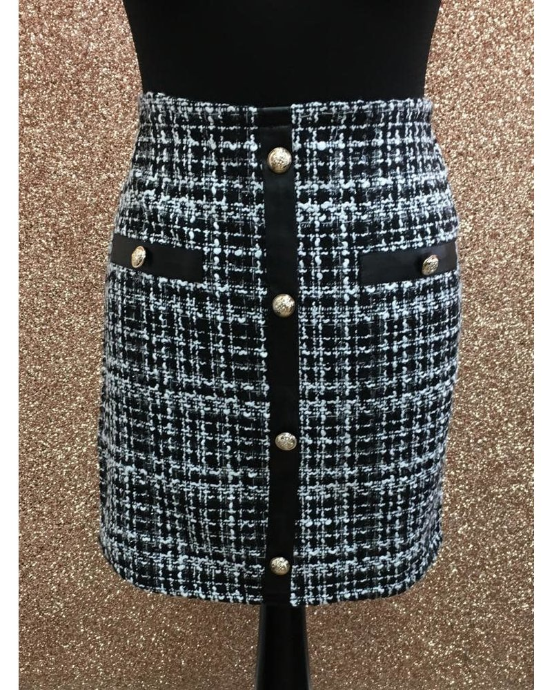 Coco tweed style skirt