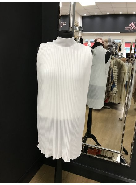 Kelsey pleated sleeveless blouse