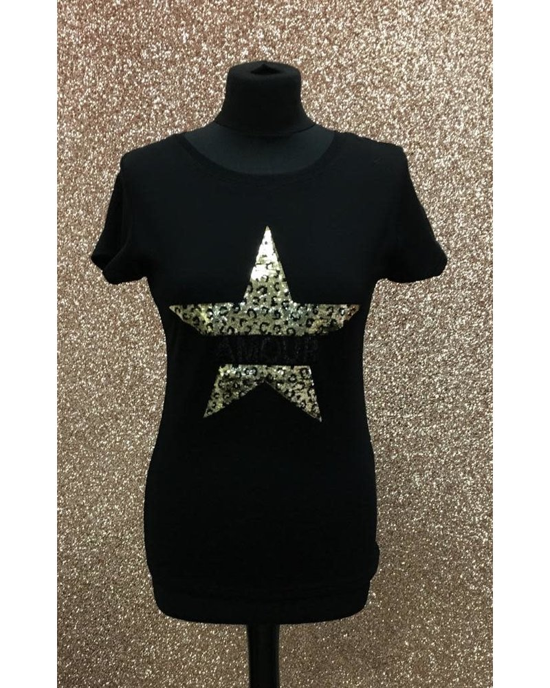 Gold star amour t-shirt